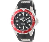 Pro Diver Karbonfaser schwarz Zifferblatt schwarz Polyurethan Men'Watch Armbanduhr PH4900-C-PH01T Analog PU Strap 12561 Black schwarz