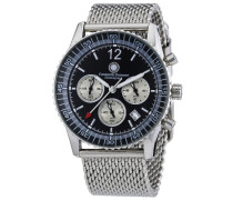 Armbanduhr XL Air Commander Chronograph Quarz Edelstahl CD-AIRC-QZ-STM2-STST-BK