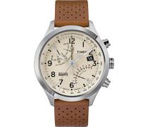 Analog Quarz Uhr mit Leder Armband TW2R55300