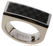 unisex Stainless Steel Ring Schwarz IP-Plating
