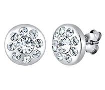Ohrstecker 925 Sterling Silber Swarovski Kristall weiß Brillantschliff 0305841815
