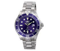 3045 Pro Diver Uhr Edelstahl Automatik blauen Zifferblat