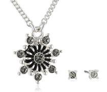 Schmuckset Halskette + Ohrringe Versilbert - 901446102
