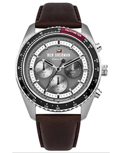 Analog Quarz Uhr mit Leder Armband WBS108BT
