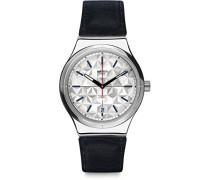 Digital Automatik Uhr mit Leder Armband YIS408