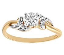Damen-Ring 9 K Gelbgold P1 Diamant 0,05 ct