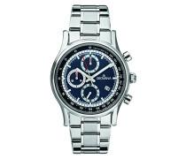 Chronograph Quarz Uhr mit Edelstahl Armband 1730.9135