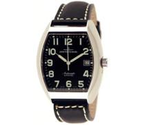 Armbanduhr XL Tonneau Sapphire Analog Automatik Leder 3076-a1 matt