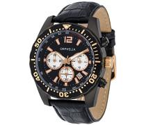 Herren-Armbanduhr Intense Chronograph Quarz Leder