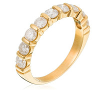 Ring 750 Gelbgold Diamant (1 ct) weiß Rundschliff