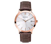 Herren Analog Quarz Uhr mit Leder Armband 251C024