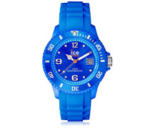 ICE forever Blue - Blaue Herrenuhr mit Silikonarmband - 000125 (Small)