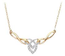 Damen-Halskette 375 Gelbgold 9 Karat