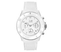 ICE dune White - Weiße Herrenuhr mit Silikonarmband - Chrono - 014223 (Extra Large)