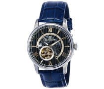 Erwachsene Analog Automatik Smart Watch Armbanduhr mit Leder Armband ES-8802-02