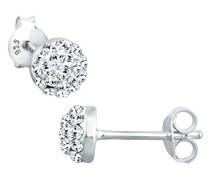 Ohrstecker Basic Glamour Zeitlos Klassisch silber 925 Swarovski Kristall weiß 0309651712