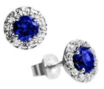 Ohrstecker 925 Sterling Silber Zirkonia Royal Colours Linie blau 62/1558/1/089