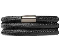 Armband JLo Reptil 3-reihig Edelstahl Leder 54.0 cm - 1003-54