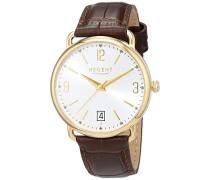 Damen Analog Quarz Uhr mit Leder Armband 12100651