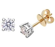 Ohrringe 18 K Gelbgold Diamant 0