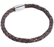 Unisex-Armband Edelstahl Leder 17 cm - 609070082