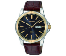 Analog Solar Uhr mit Leder Armband SNE102P9