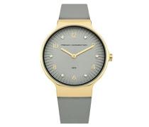 Datum klassisch Quarz Uhr mit Leder Armband FC1301EG