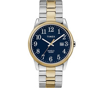 Datum klassisch Quarz Uhr mit Edelstahl Armband TW2R58500