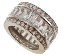 Damen-Ring 925 Sterling Silber mit Zirkonia Weiß