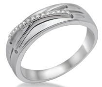 Ring 925 Sterling-Silber hochglanzpoliert mit Brillanten 0