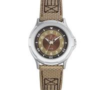 – 647555 – Armbanduhr – Quarz Analog – Zifferblatt braun Armband PU zweifarbig