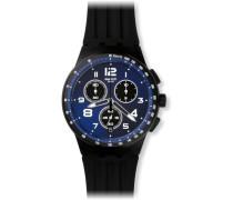 Uhr Chronograph Quarz mit Silikonarmband – SUSB402