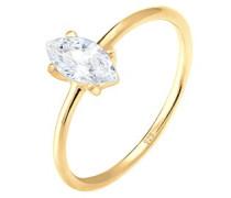 Ring Marquise Zirkonia Minimal 925 Silber vergoldet 0612590716