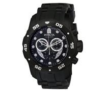 6986 Pro Diver - Scuba Uhr Edelstahl Quarz schwarzen Zifferblat