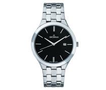 Datum klassisch Quarz Uhr mit Edelstahl Armband 2016.1137