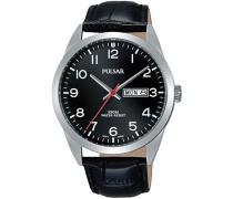 Herren-Armbanduhr Analog Quarz Leder PJ6067X1