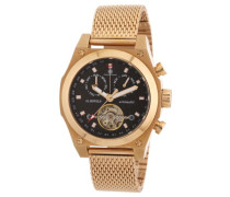 Armbanduhr XL Colbert Analog Automatik Edelstahl beschichtet CD-COLB-AT-RGM3-RGRG-BK