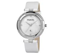 Armbanduhr Pearl Analog Quarz Perlmutt Leder