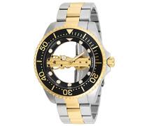 26479 Pro Diver Uhr Edelstahl mechanisch schwarzen Zifferblat