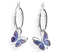 Ohring Einhänger Flying purple für Creolen 925 Silber Brandlack LD MR 46