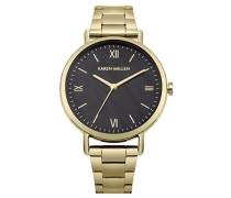 Datum klassisch Quarz Uhr mit Edelstahl Armband KM159BGM