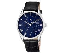 Herren-Armbanduhr Analog Quarz Leder 10131/3