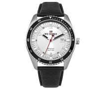 Herren Analog Quarz Uhr mit Leder Armband WBS107B