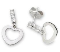 -Joven Herz Ohrringe 18ct/750 Weißgold mit 6 Brillanten zus.ca.0