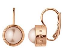 Ohrstecker ICONS LULU RG Messing teilvergoldet Perle rosa Rundschliff - 337113
