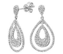 Ohrringe 18 Karat Weißgold Diamant DE152518KW