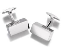 Sterling Silber Silber Rechteckige Block Manschettenknöpfe