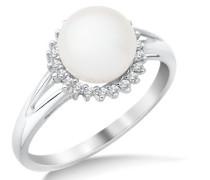 Ring 9 Karat (375) Weißgold Diamant 57 (18.1) SA951RP