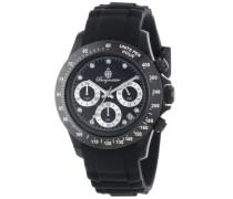 Armbanduhr für mit Analog Anzeige, Chronograph und Silikonarmband - Wasserdichte Damenuhr mit zeitlosem, schickem Design - klassische
