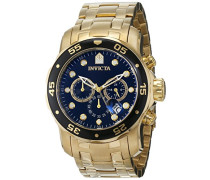 Chronograph Automatic Uhr mit Weißgold Armband 72